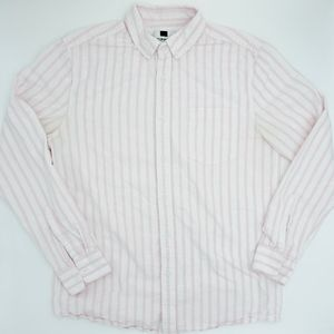 TOPMAN Pink Striped Button Down Shirt NWOT